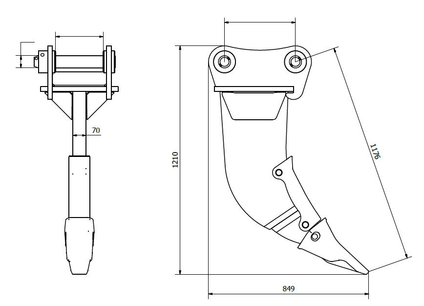 13-16T excavator ripper line