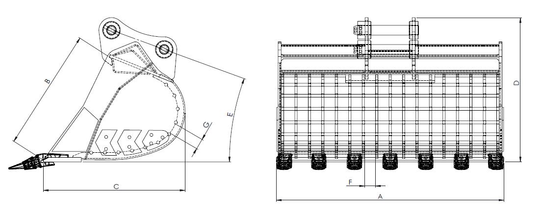 7T-8T, 13T-16T, 20T-23T skeleton bucket line