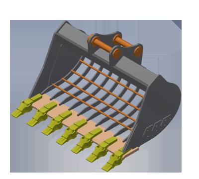 Excavator sieve bucket